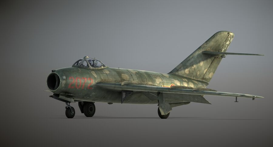 MiG-17F royalty-free 3d model - Preview no. 27