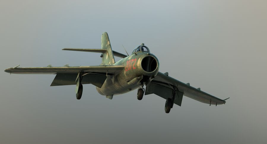 MiG-17F royalty-free 3d model - Preview no. 24