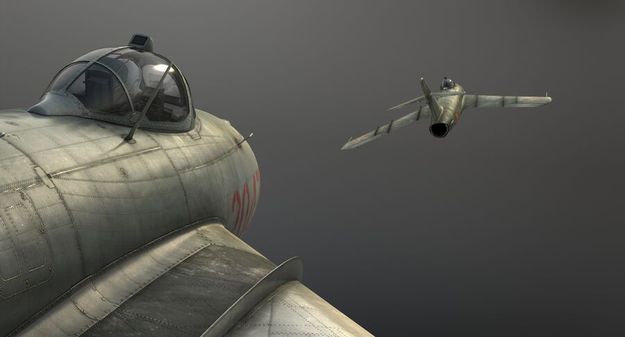 MiG-17F royalty-free 3d model - Preview no. 19
