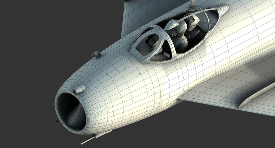 MiG-17F royalty-free 3d model - Preview no. 36