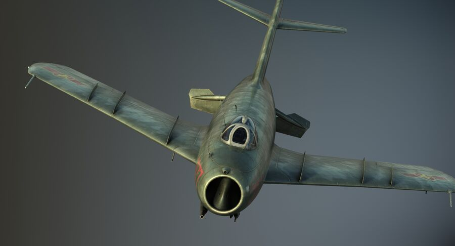 MiG-17F royalty-free 3d model - Preview no. 22