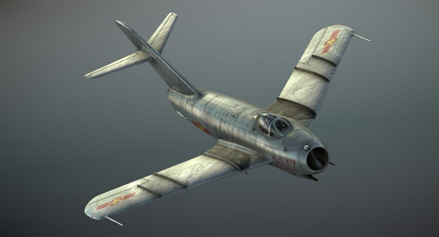 MiG-17F royalty-free 3d model - Preview no. 2