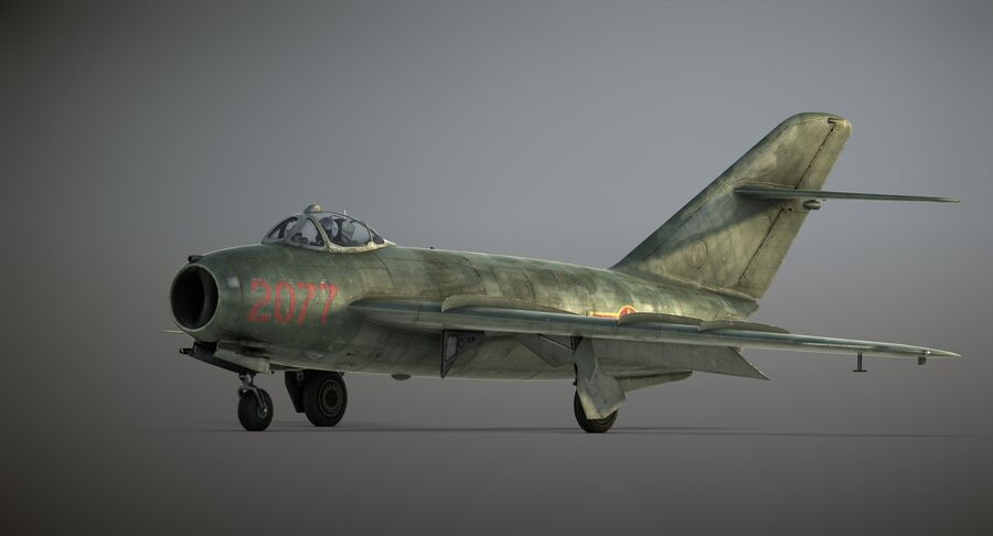 MiG-17F royalty-free 3d model - Preview no. 28
