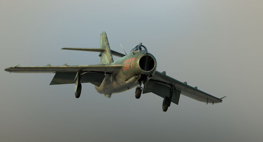 MiG-17F royalty-free 3d model - Preview no. 25