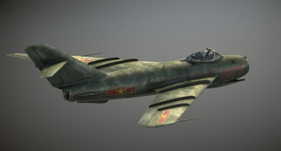 MiG-17F royalty-free 3d model - Preview no. 5