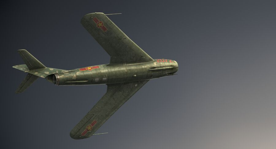 MiG-17F royalty-free 3d model - Preview no. 16
