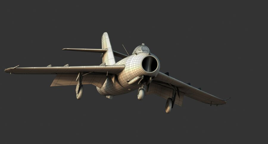 MiG-17F royalty-free 3d model - Preview no. 37