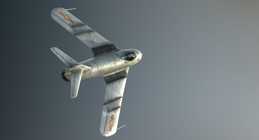 MiG-17F royalty-free 3d model - Preview no. 6