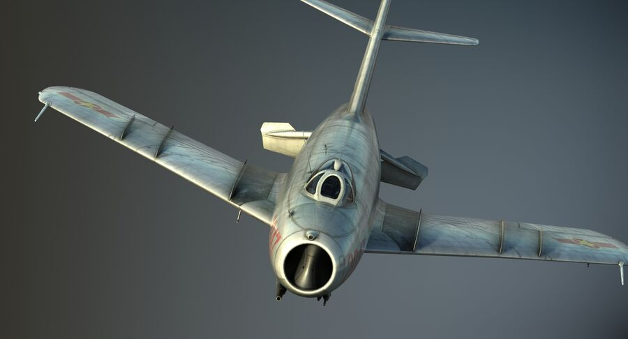 MiG-17F royalty-free 3d model - Preview no. 20