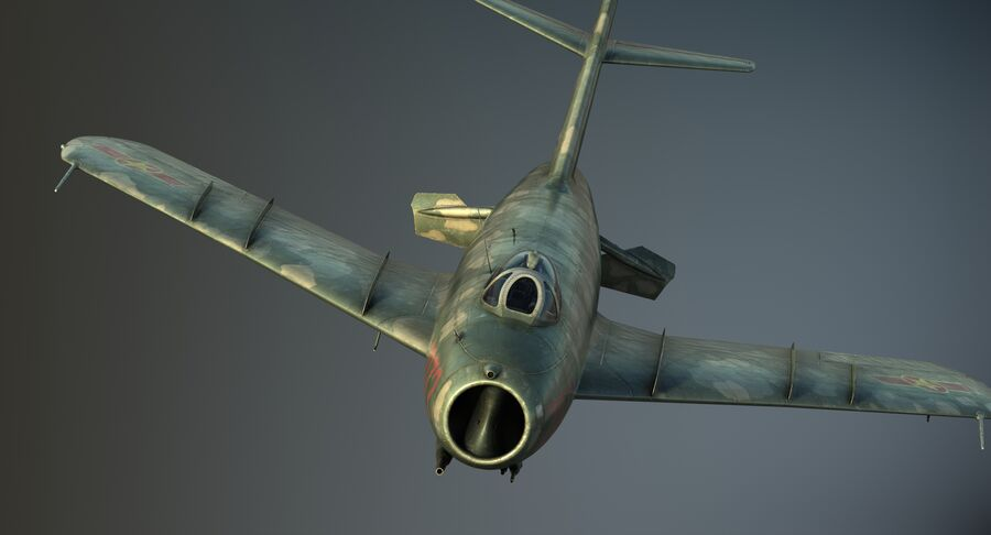 MiG-17F royalty-free 3d model - Preview no. 21