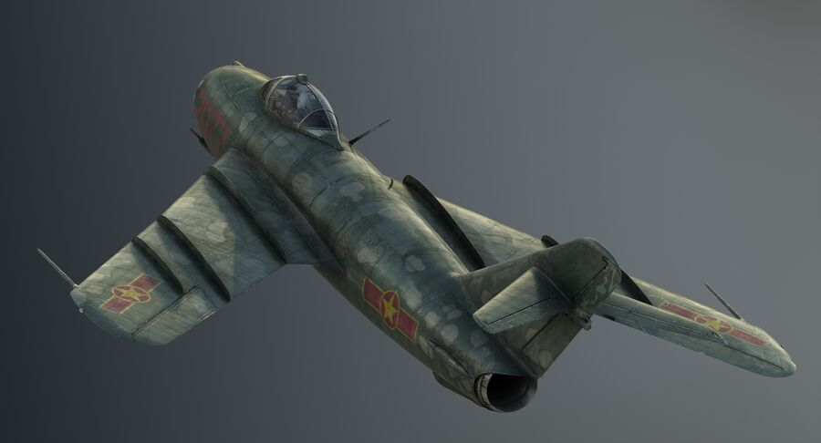 MiG-17F royalty-free 3d model - Preview no. 10