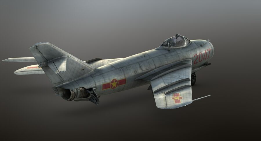 MiG-17F royalty-free 3d model - Preview no. 31