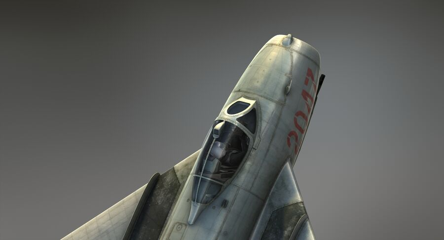 MiG-17F royalty-free 3d model - Preview no. 12
