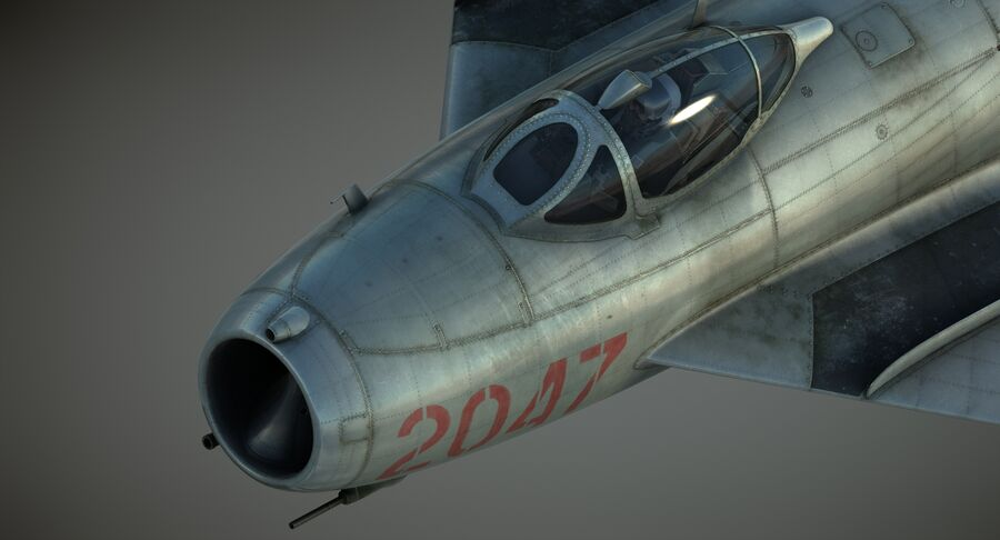 MiG-17F royalty-free 3d model - Preview no. 29