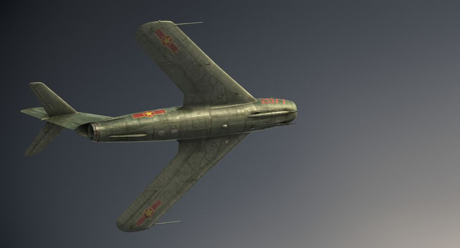 MiG-17F royalty-free 3d model - Preview no. 17