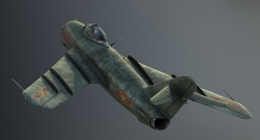 MiG-17F royalty-free 3d model - Preview no. 11