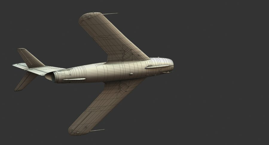 MiG-17F royalty-free 3d model - Preview no. 35
