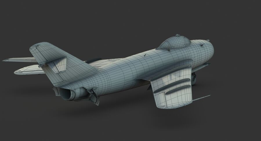 MiG-17F royalty-free 3d model - Preview no. 34