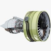 터보 팬 항공기 엔진 3d model