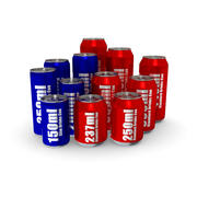 Drinks Cans - Complete Set 3d model