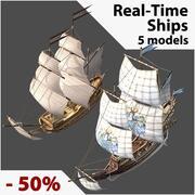 Karikatür Gemi Koleksiyonu 3d model