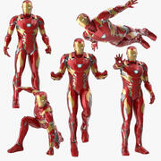 Iron Man Mark 46 Poses Collection 3d model