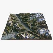 Alperna landskap 3d model