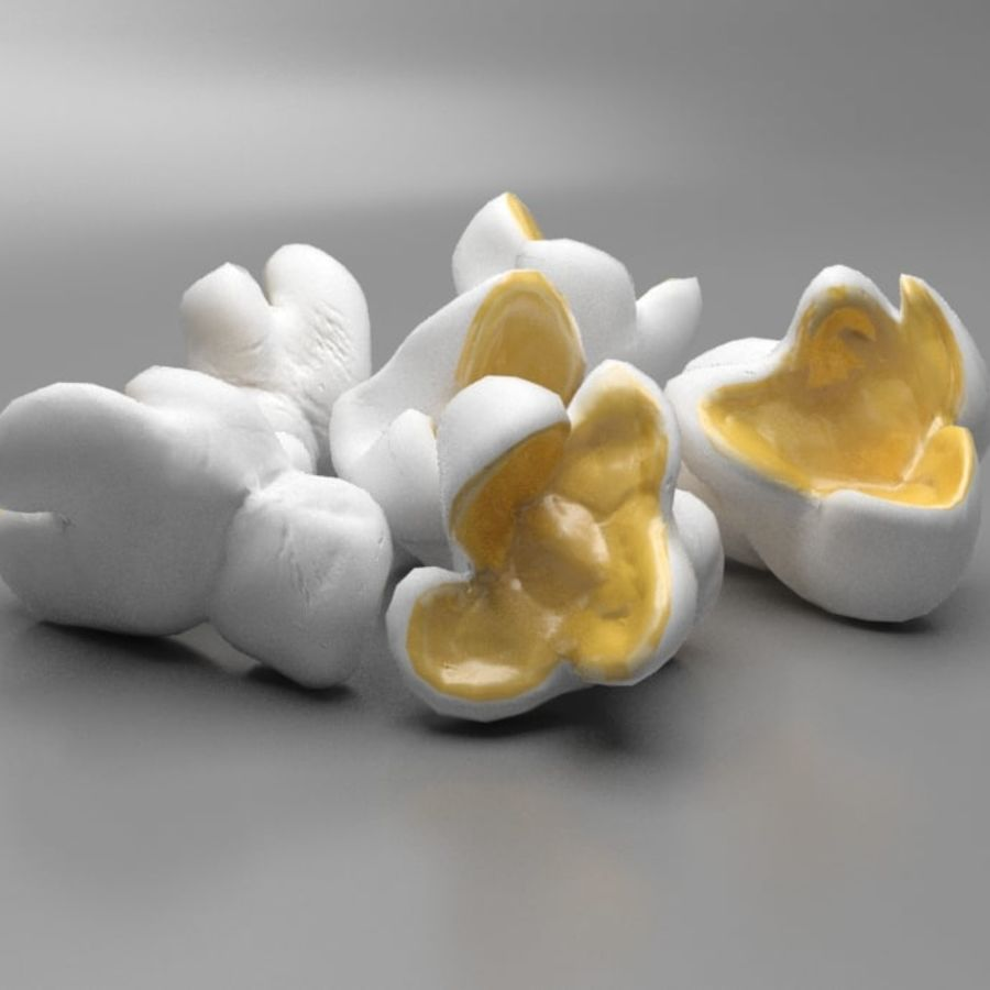 Palomitas de maiz royalty-free modelo 3d - Preview no. 1