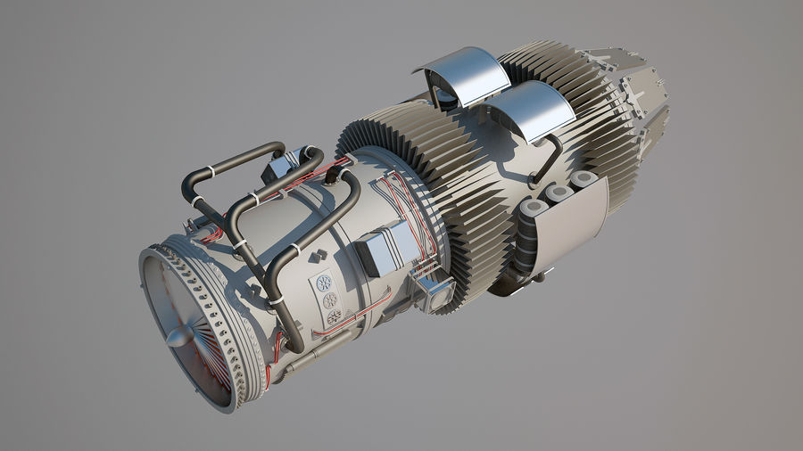 Jetmotor royalty-free 3d model - Preview no. 3