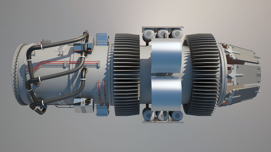 Jetmotor royalty-free 3d model - Preview no. 8