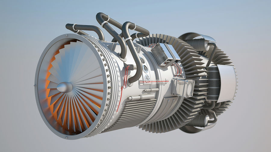 Jetmotor royalty-free 3d model - Preview no. 2
