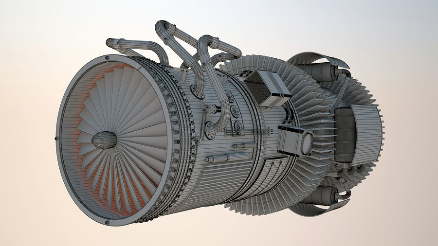 Jetmotor royalty-free 3d model - Preview no. 9