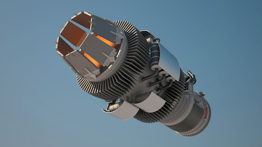 Jetmotor royalty-free 3d model - Preview no. 6