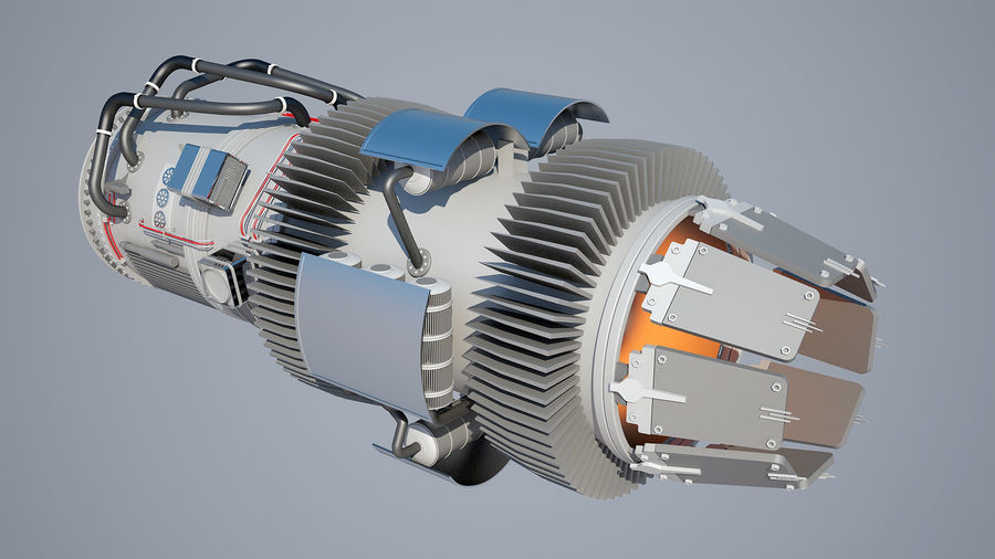Jetmotor royalty-free 3d model - Preview no. 4