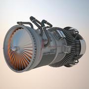 Реактивный двигатель 3d model