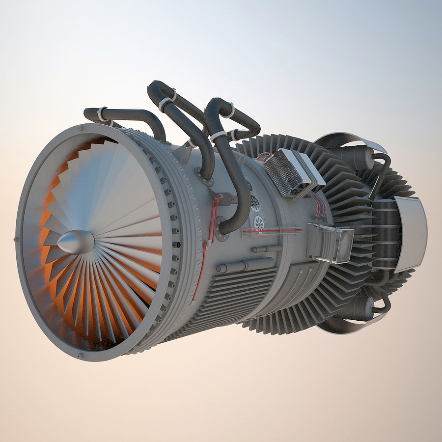 Jetmotor royalty-free 3d model - Preview no. 1