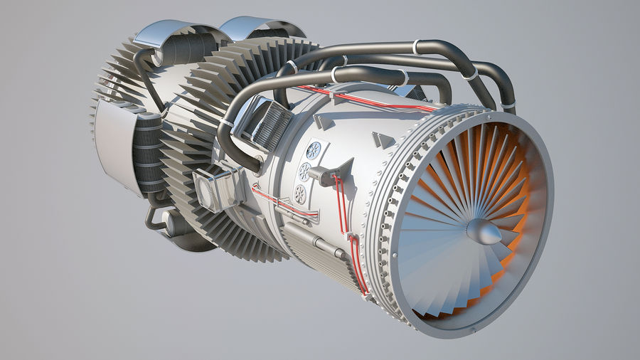 Jetmotor royalty-free 3d model - Preview no. 7
