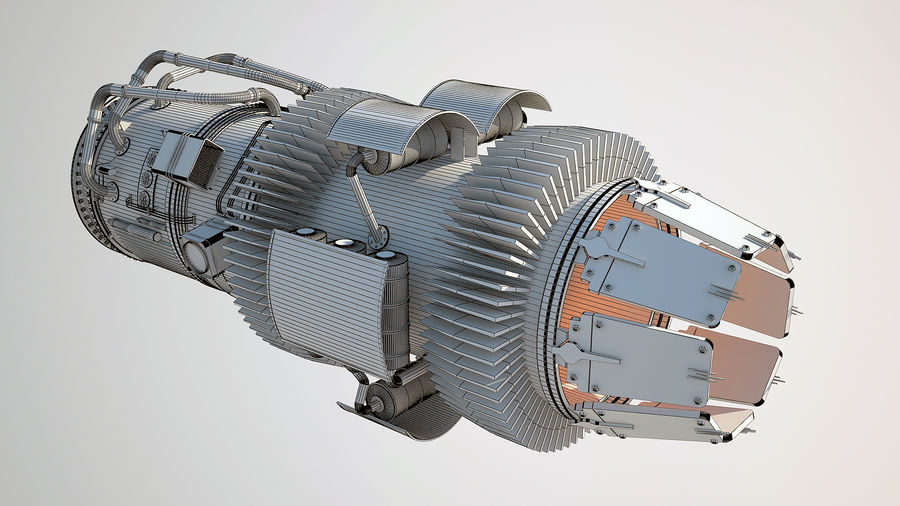 Jetmotor royalty-free 3d model - Preview no. 10