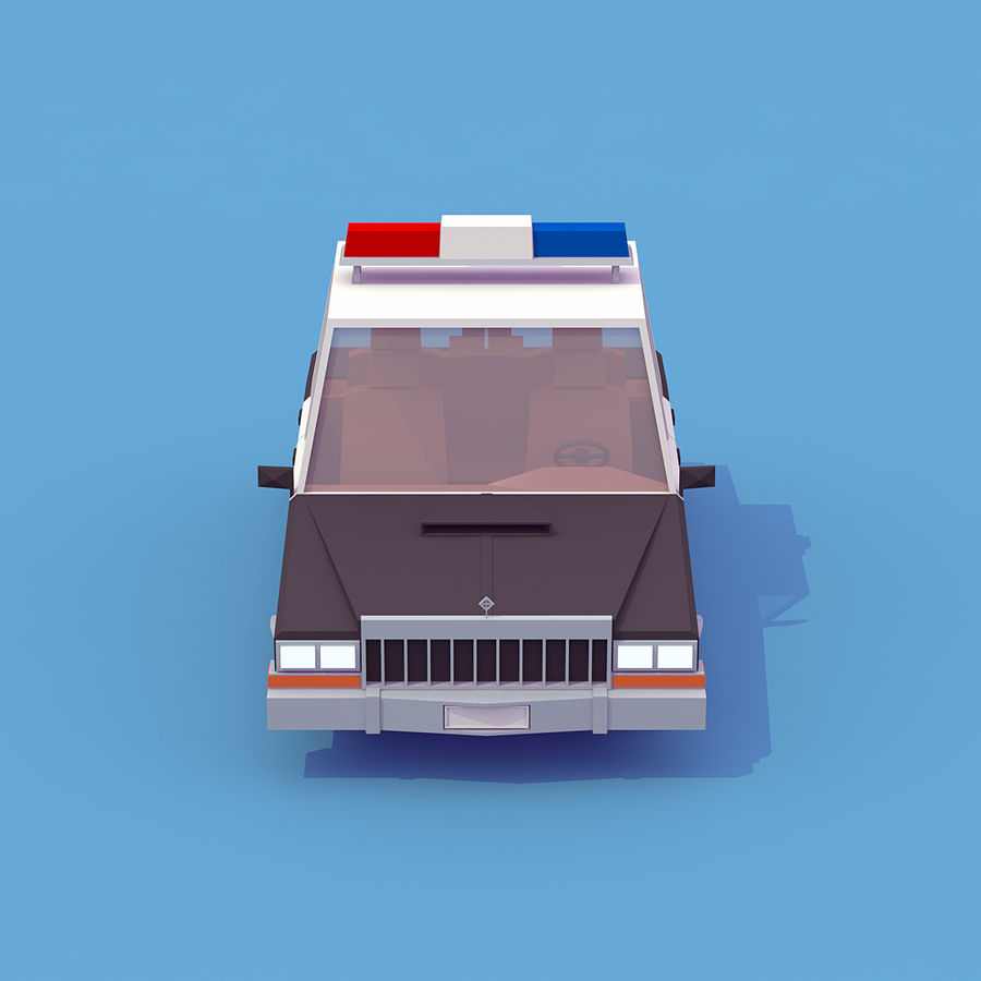 Police car royalty-free 3d model - Preview no. 5