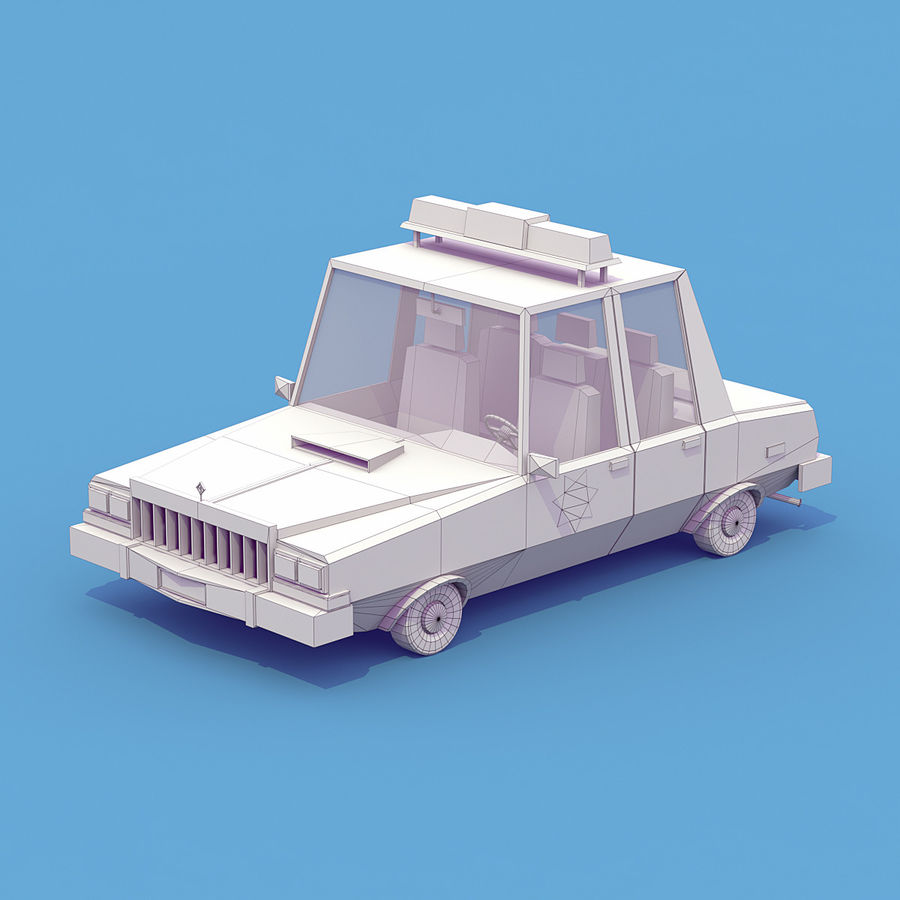 Police car royalty-free 3d model - Preview no. 6