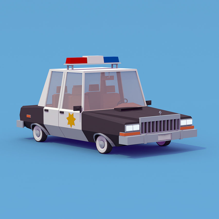 Police car royalty-free 3d model - Preview no. 3