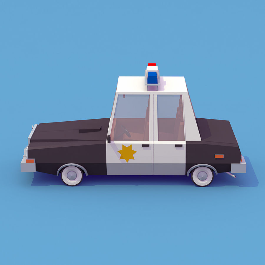 Police car royalty-free 3d model - Preview no. 4