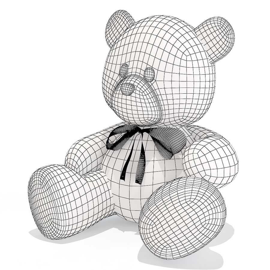 Teddy bear royalty-free 3d model - Preview no. 10