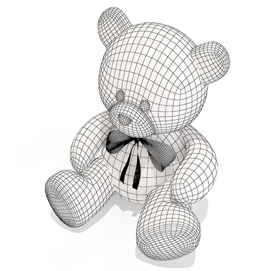 orsacchiotto di peluche royalty-free 3d model - Preview no. 10