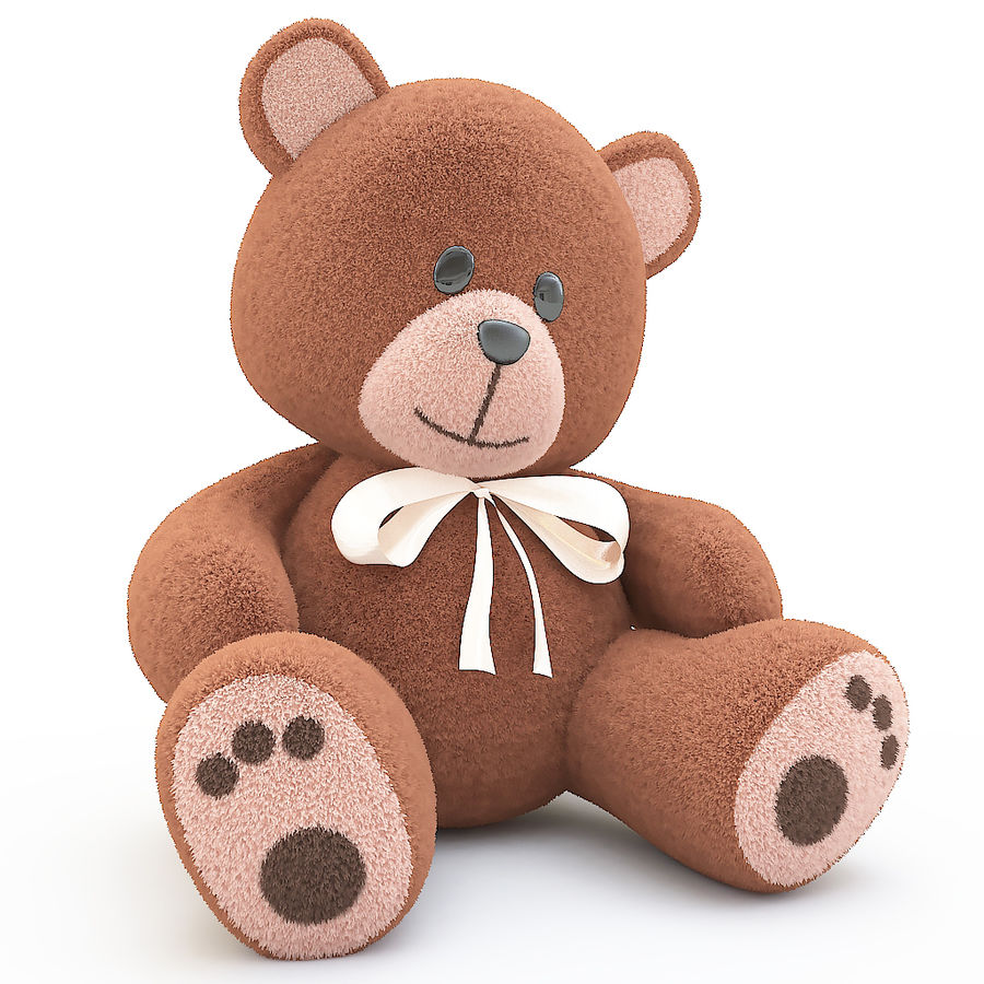 orsacchiotto di peluche royalty-free 3d model - Preview no. 1