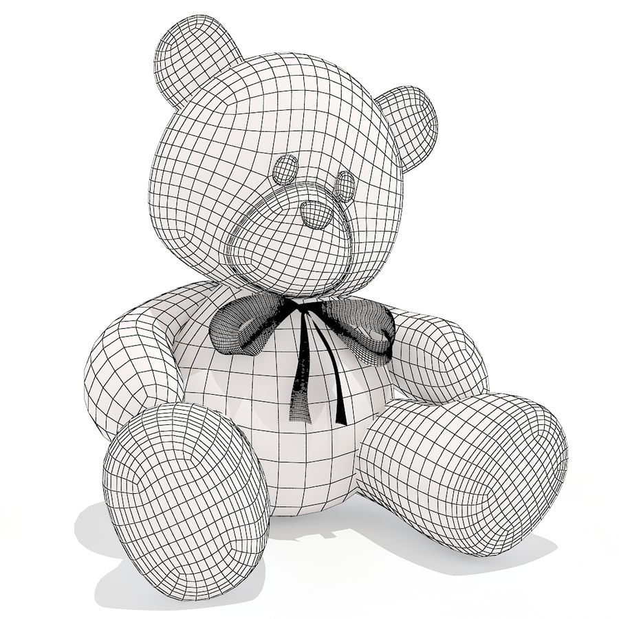 orsacchiotto di peluche royalty-free 3d model - Preview no. 6