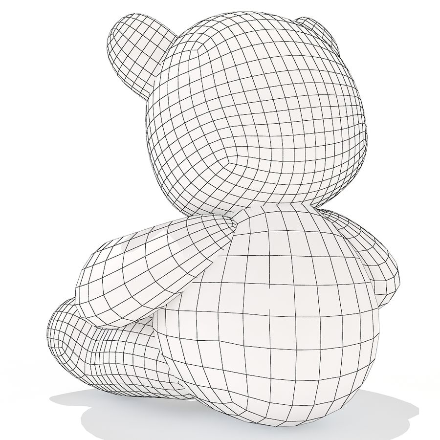 orsacchiotto di peluche royalty-free 3d model - Preview no. 9