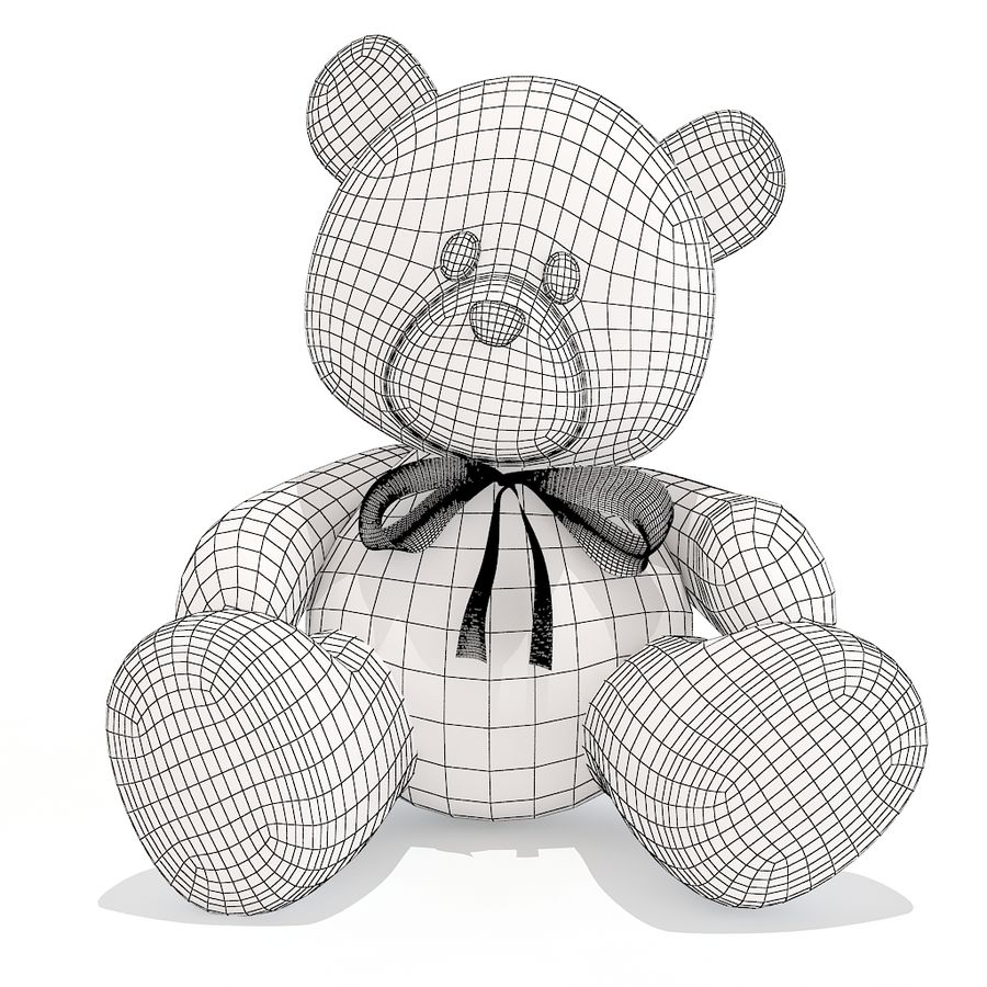 orsacchiotto di peluche royalty-free 3d model - Preview no. 8