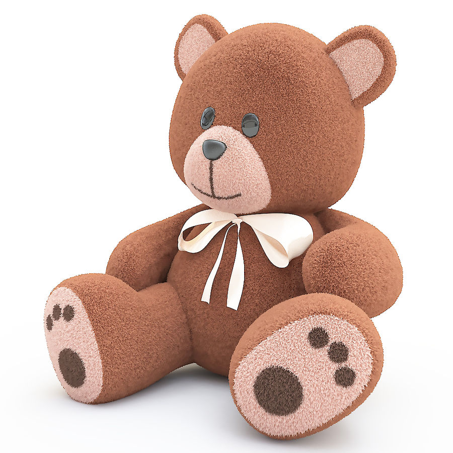 orsacchiotto di peluche royalty-free 3d model - Preview no. 2