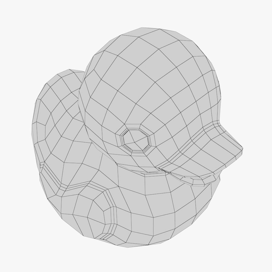 Rubber Duck 01 royalty-free 3d model - Preview no. 10